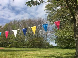Colourful bunting to hire for events