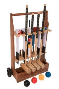 A professional croquet set available for rental