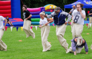 old school sports day hire, sack race