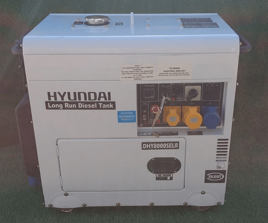 Large 6.5 KVA generator to hire for events