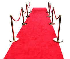 red carpet and chrome post hire