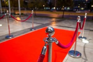 Rope and Post Hire in uk, great for red studded carpet events,