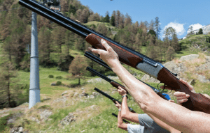 Laser clay shooting hire UK