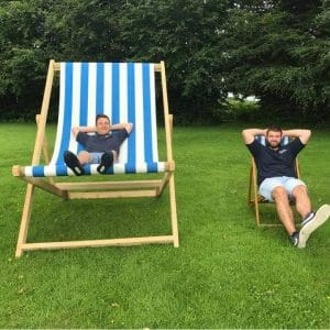 Large selection of vintage style seaside deckchairs to hire