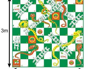 giant snakes and ladder board game hire