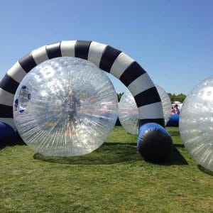 giant human sized zorb balls in zorb arena