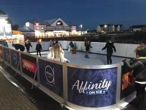 Synthetic ice rink rental company