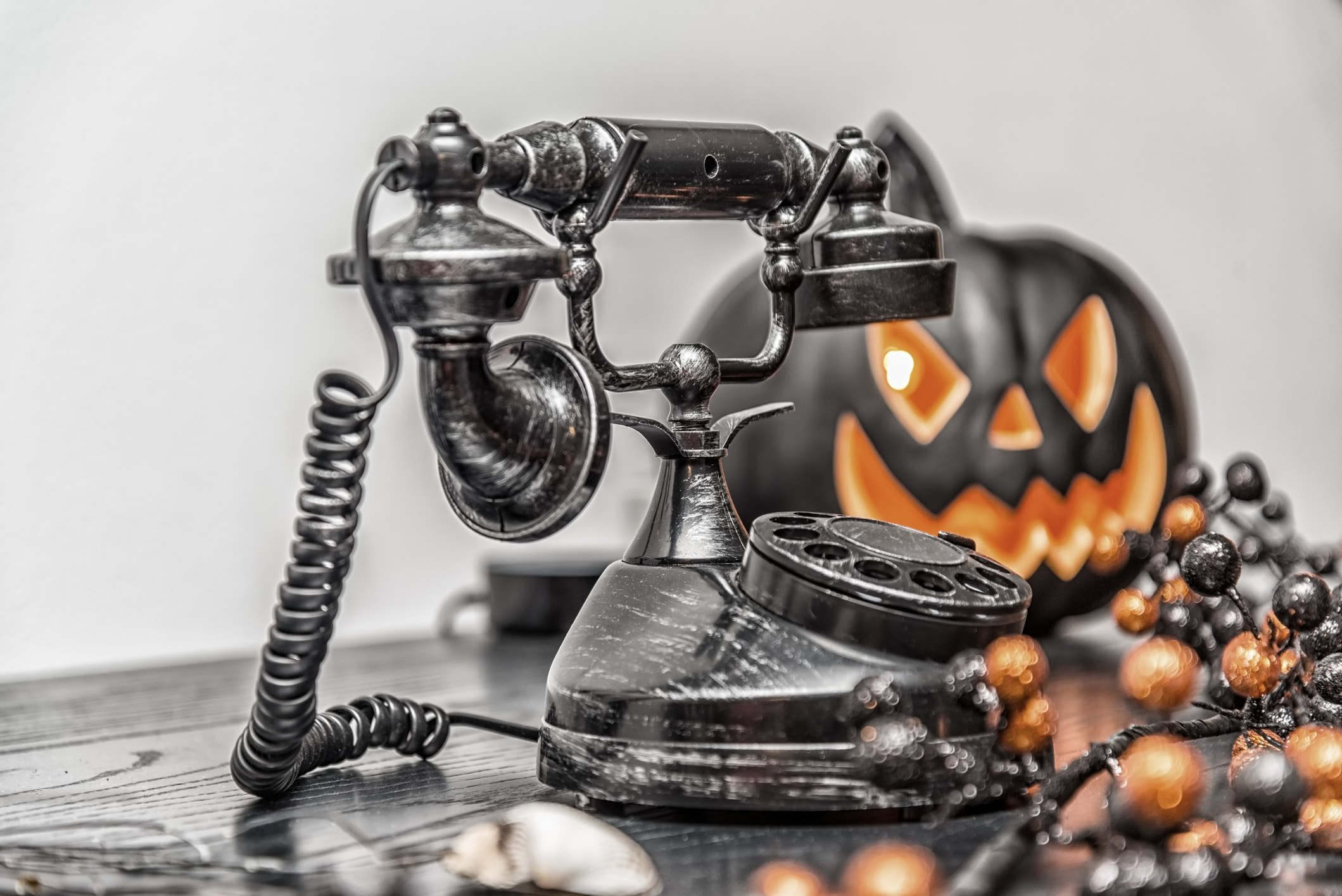 call to arrange a spooky halloween themed event